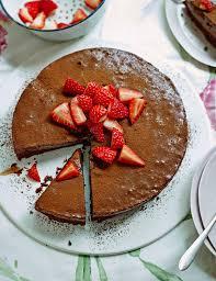 chocolate mousse cake with strawberries sainsbury u0027s magazine