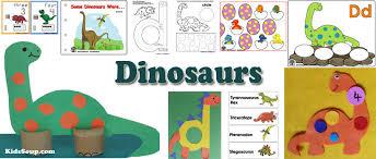 preschool dinosaur crafts activities printables kidssoup
