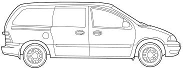 2000 ford windstar minivan blueprints free outlines