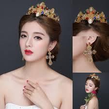 headband online royal gold rhinestones wedding tiaras crowns 2016 new princess