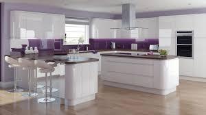 Gloss Kitchen Designs Fusion Gloss White Kitchen Modern Handle Less Kitchens