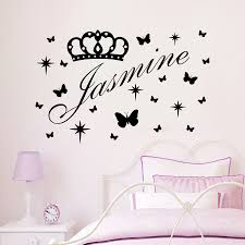 Baby Name Wall Decals For Nursery by Aliexpress Com Buy Vinyl Name Wall Decals Princes Crown Decal