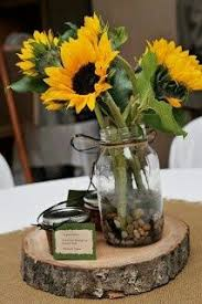 Sunflower Wedding Centerpieces by Rustic Sunflower Lantern Home Decor Sunflower Wedding Centerpiece