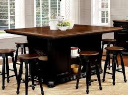 sabrina counter height dining set cherry and black casual