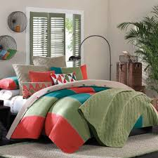 teal and orange bedding home appliances decoration