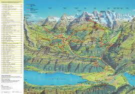 Alps Mountains Map Grindelwald Switerland The Top Of Europe