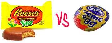 reese easter egg reese s peanut butter eggs vs cadbury creme eggs the 5kinny