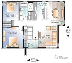 Modern House Floor Plans With Pictures W3323 V2 Affordable Split Entry Modern Bungalow House Plan With