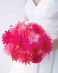 How To Make Bridal Bouquet How To Make Paper And Fabric Flowers For Your Wedding Martha