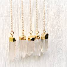 necklace crystal quartz images Crystal quartz necklace 24k gold dipped jewellery gold filled jpg
