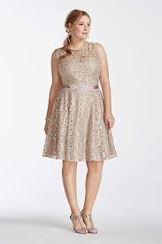 plus size cocktail dresses david u0027s bridal