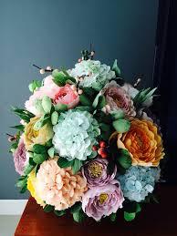 bouquet en papier rolled flower style 2 the craft crop patronen bloemen