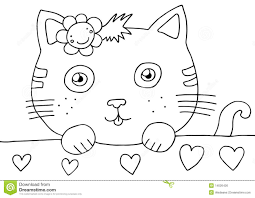 kitty coloring page royalty free stock image image 14026426