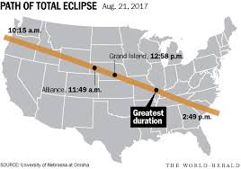 Map Of Nebraska Cities In One Year Swath Of Nebraska Will Be Under Moon U0027s Shadow