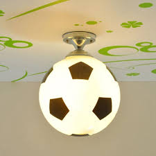 kid u0027 bedroom glass football ceiling light creative soccer