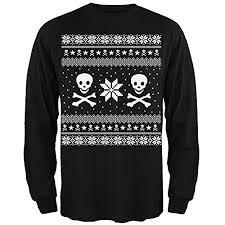 skull sweater amazon com skull crossbones sweater black