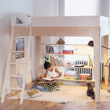 Perch Twin Loft Bed - Oeuf bunk bed