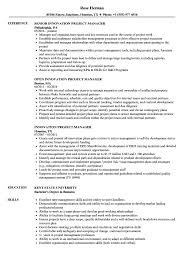 exle of a professional resume innovation project manager resume sles velvet