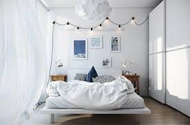 suspension design chambre déco idée comment amenager une chambre scandinave lit blanc