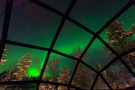 finland northern lights hotel see the northern lights from a glass igloo in the middle of the