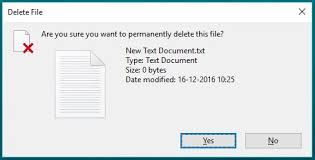 delete file permanently sending recycle bin