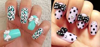 15 polka dot bow nail art designs ideas u0026 trends 2014
