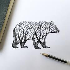 alfred basha illustration bear drawing drawing tattoos and drawings