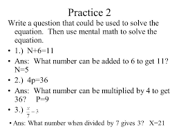 practice 2 write a question that could be used to solve the equation