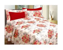 Buy Cheap Double Bed Sheets Online India Divine Casa Buy 1 Get 1 Double Cotton Abstract Bed Sheet Buy