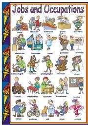 esl kids worksheets jobs and occupations