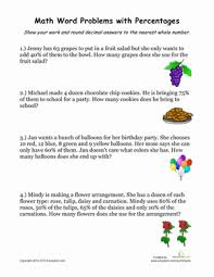 percentage word problems 2 worksheet education com