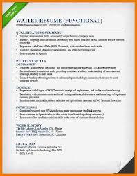 Sle Resume For Restaurant Server by Cover Letter Exle For An Entry Level Waiter Waitress Resume1