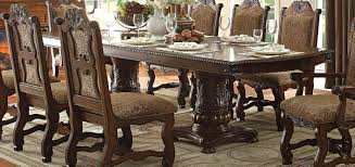 pedestal dining room sets homelegance thurmont double pedestal dining table cherry 5052