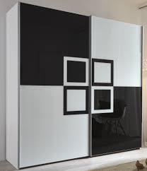 Schlafzimmerschrank Schwebet Enschrank Schwebetürenschrank Weiß Schwarz Enorm Kleiderschrank