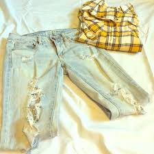 Light Wash Ripped Skinny Jeans 56 Off American Eagle Outfitters Denim American Eagle Light