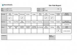 site visit report template site visit report template