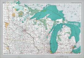United Stated Map by Northern Great Lakes States Map United States Full Size