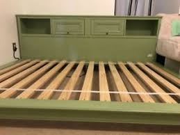 Pottery Barn Platform Bed Pottery Barn Chelsea Platform Bed With Bookcase Size Ebay