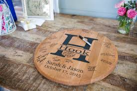 bourbon barrel personalized wedding guest book