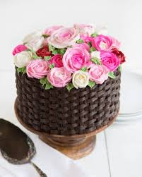 flower basket basket of flowers cake i am baker
