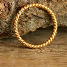 gold band ring buy twisted rope wedding band ring for 18k yellow gold stack