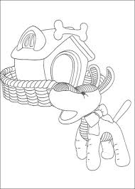 dog house coloring pages the dog in front of its house coloring page free printable