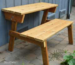 Convertible Picnic Table Bench Stylish Picnic Table To Bench Sisters What Bench That Turns Into