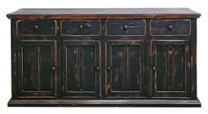 Western Dining Room Amazon Com Rustic 4 Door Brown Black Buffet Cabinet Western