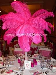 Tower Vase Centerpieces Eiffel Tower Vase Centerpiece With Fuchsia Ostrich Feathers