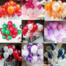 metallic balloons 10 inch helium balloon pearl metallic balloons wedding