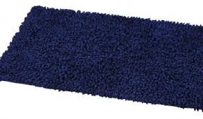Navy Bath Mat Shaggy Loop Bath Rug Navy Blue Contemporary Bath Mats By Evideco