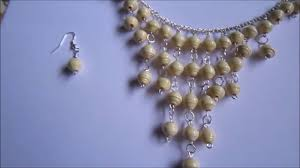beads necklace handmade images Handmade jewelry hanging paper beads necklace earrings not jpg