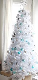 white tree blue and silver ornaments best family rooms