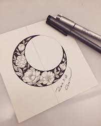 memorial floral moon design